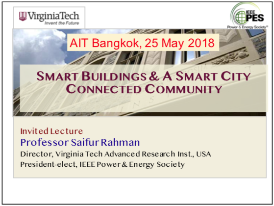 Smart Buildings and A Smart City Connected Community