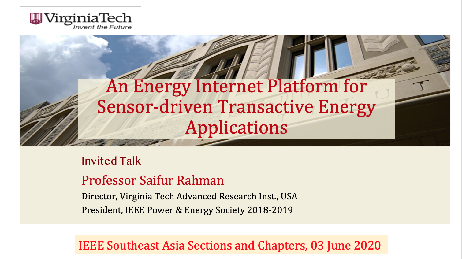 An Energy Internet Platform for Sensor-driven Transactive Energy Applications