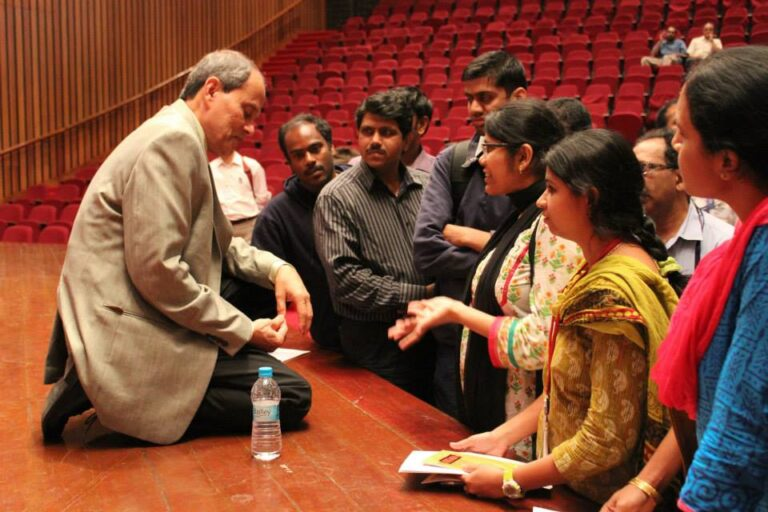 Talking with students in Bangalore copy 2